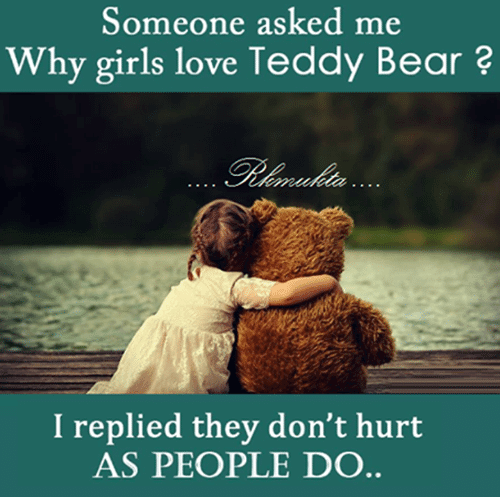 teddy bear image with quote