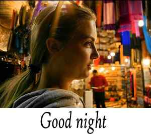 beautiful girl image with good night