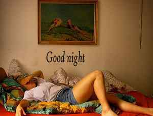 beautiful girl pics with good night caption