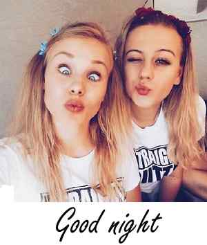 beautiful girls image with good night