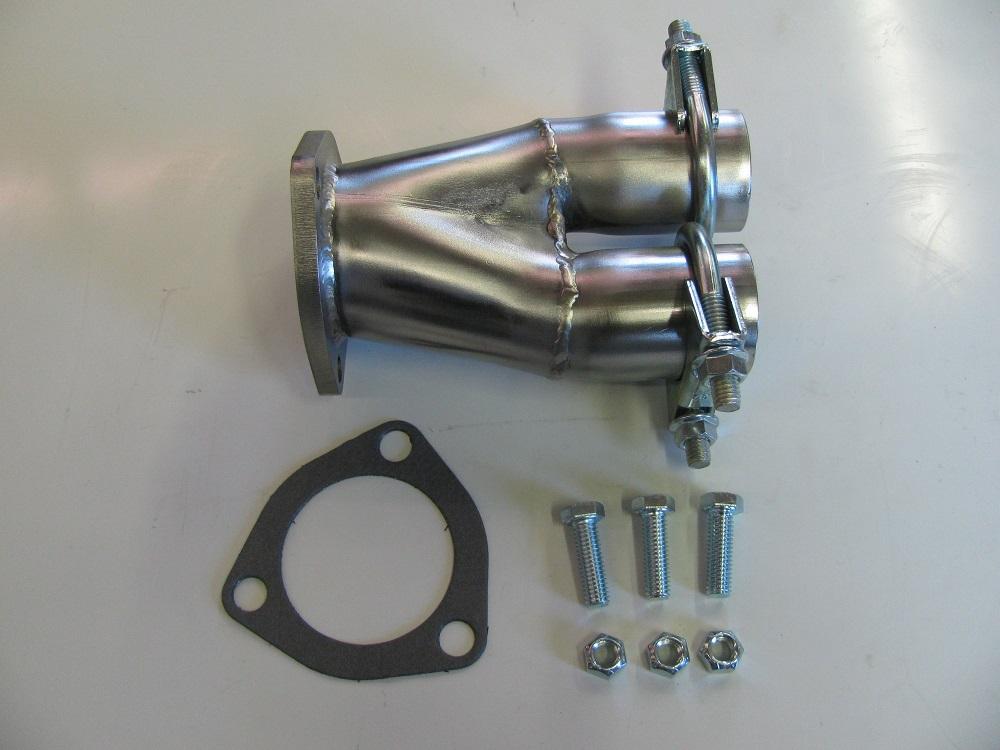 exhaust adapter header flange to dual 1 3 4