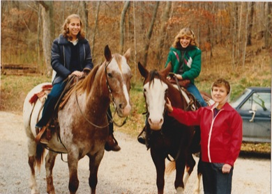 camille and sister on horses