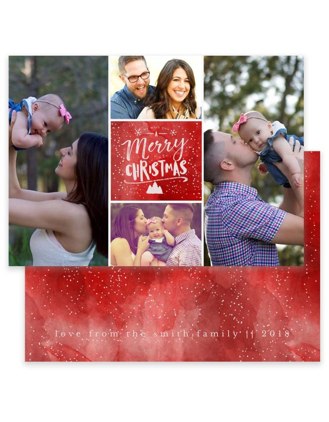 A Merry Christmas Wish Collage Card