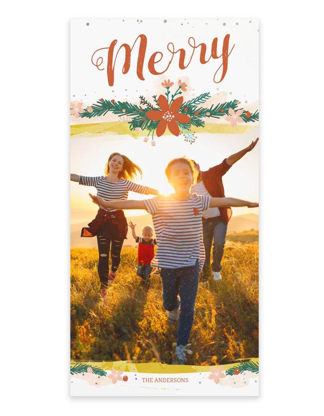 custom family photo card for christmas
