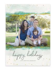 colorful custom family photo christmas card