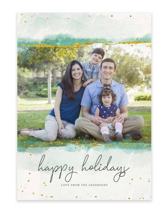 colorful custom family photo christmas card