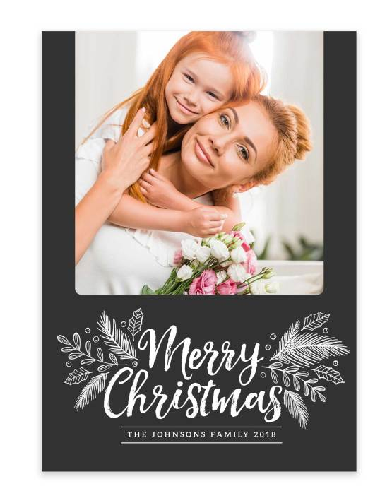merry christmas from the family photo card