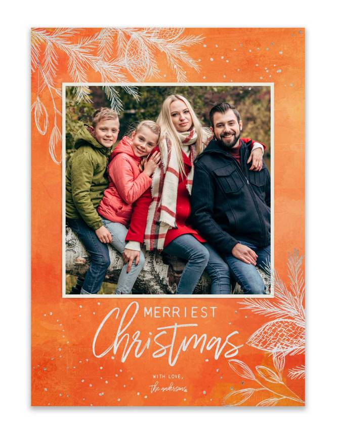 5x7 custom christmas photo card