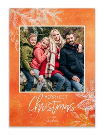 5x7 custom christmas photo card