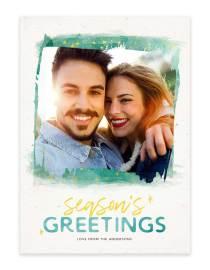 custom holiday greeting card watercolor design