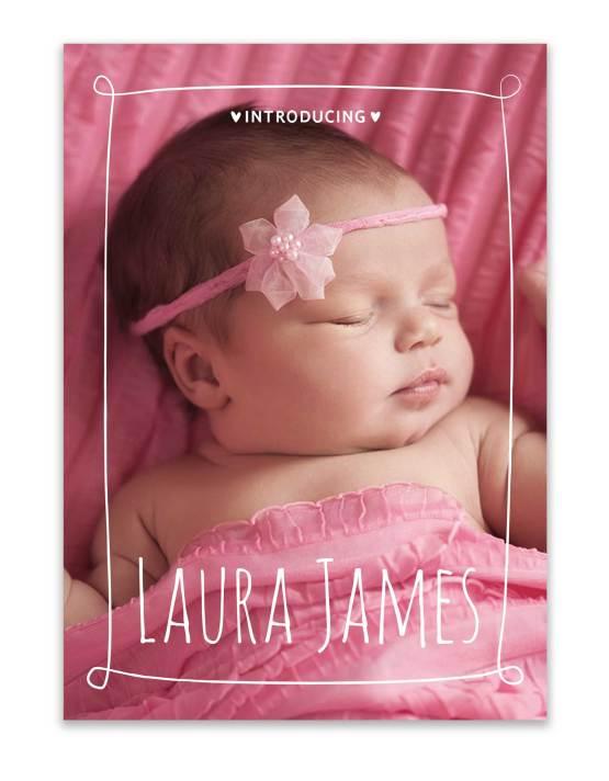 custom birth announcement photo card