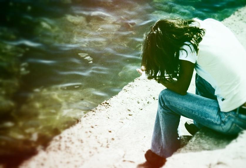Woman feeling lost