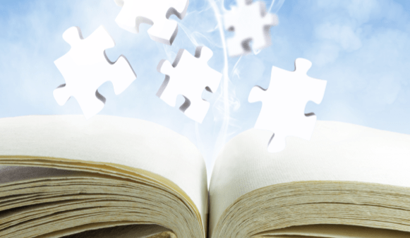 puzzle and book