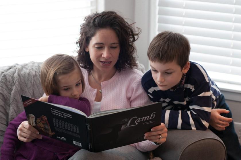 Mom reading The Lamb