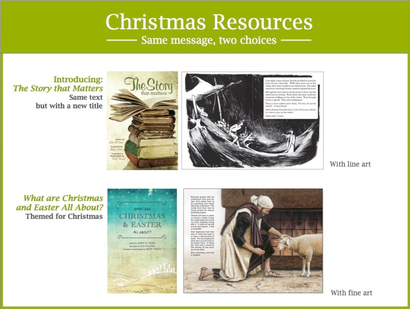 What are Christmas and Easter All About? and The Story that Matters comparison