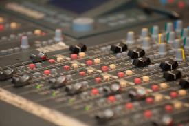One of the sound panels in the studio.