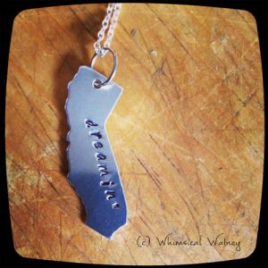 California dreamin' state charm necklace