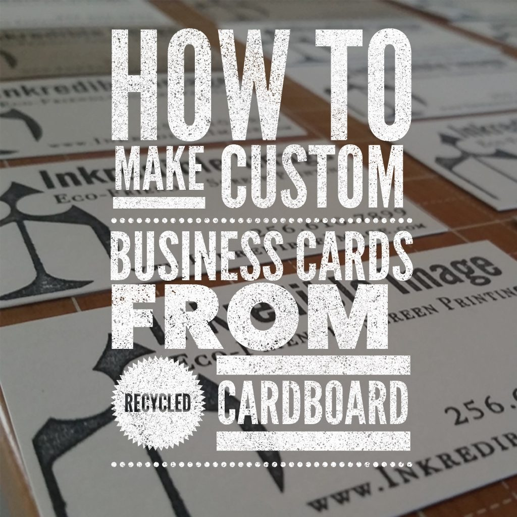 Make Custom Stamped Business Cards From Recycled Cardboard | Goods ...