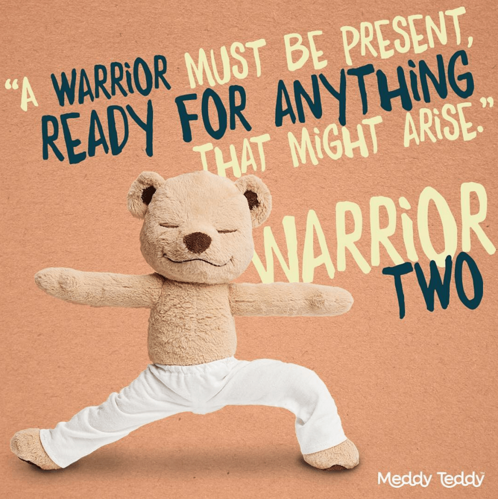 Meddy Teddy engages young yogis