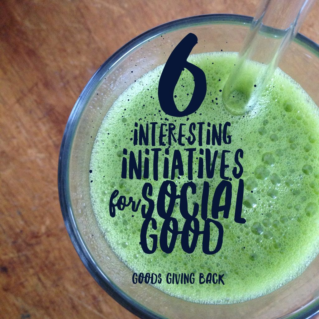 Interesting Social Good Initiatives