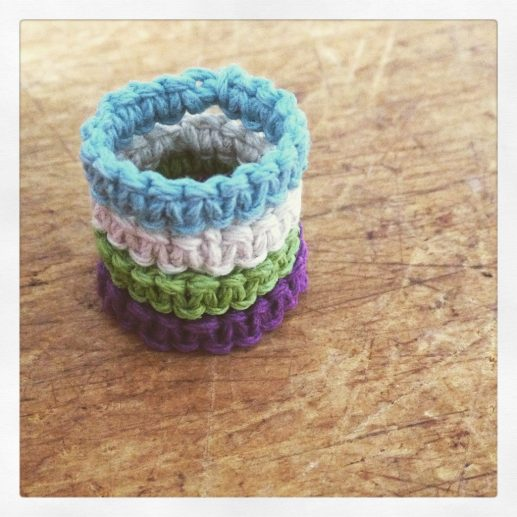 Hemp square knot rings from Whimsical Walney