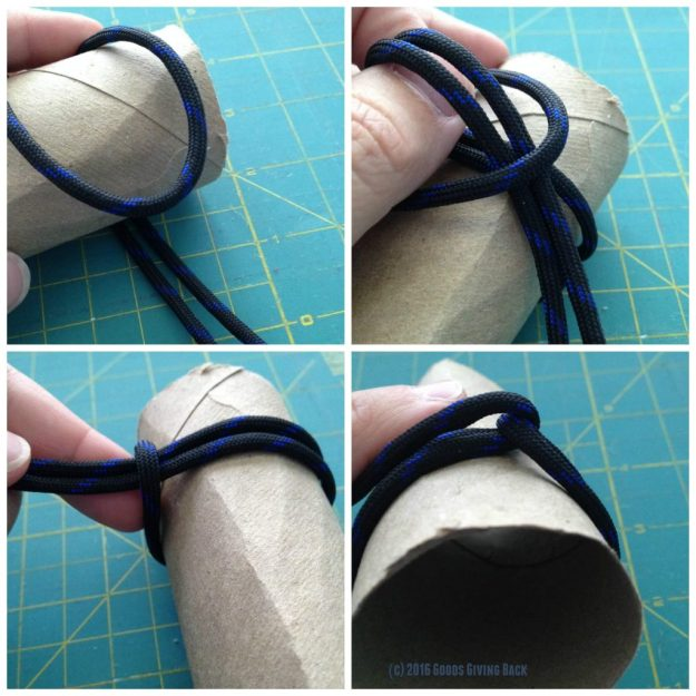 Measure the paracord napkin ring