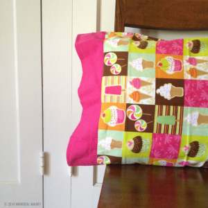 Flannel pillowcase ice cream and cupcakes