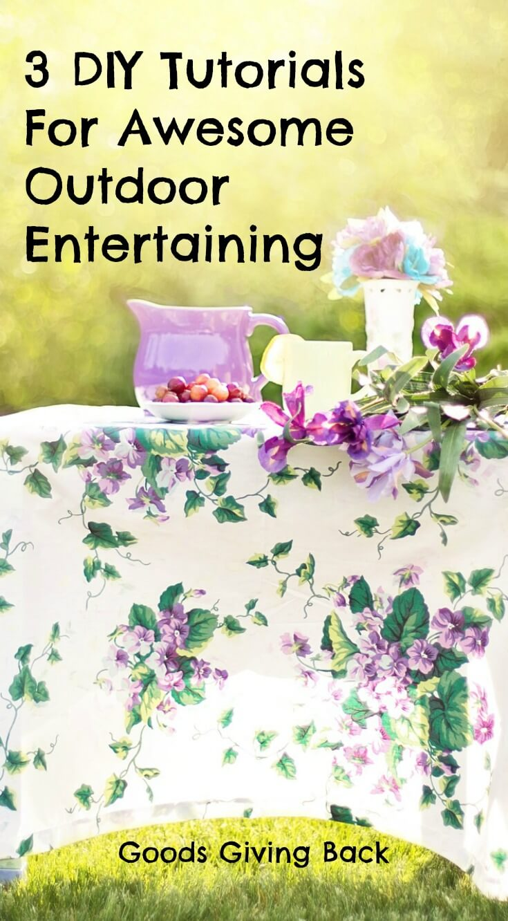 diy tutorials awesome outdoor entertaining