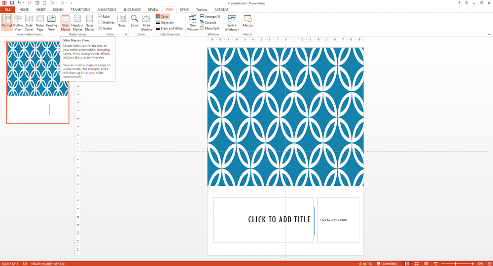 Create an ebook in Powerpoint -design a cover