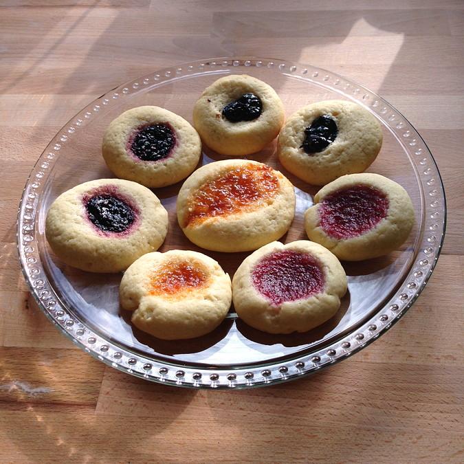 thumbprint cookies with jam