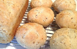 oatmeal bread and rolls