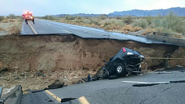 Freeeway Bridge collapses in California Due to Heavy Rains