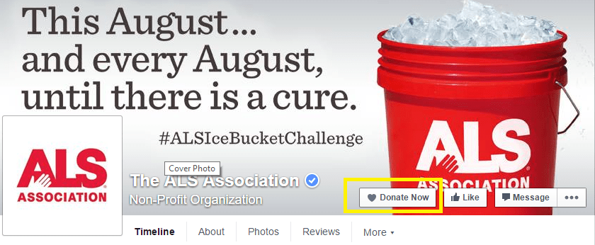 Facebook Adds Call To Action 'Donate Button' For Charities