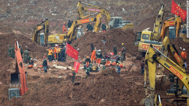 Landslide Rescue Work Still In Progress in China; One Body Recovered