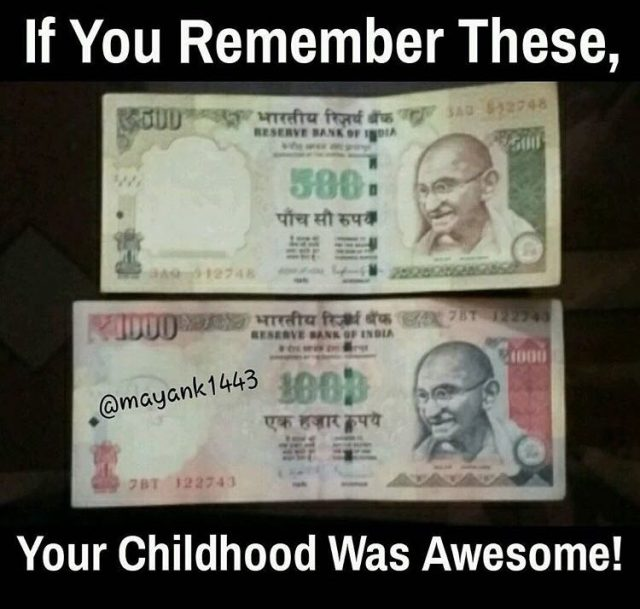 Rs. 500 and Rs.1000 Ban
