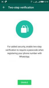 WhatsApp two step verification update