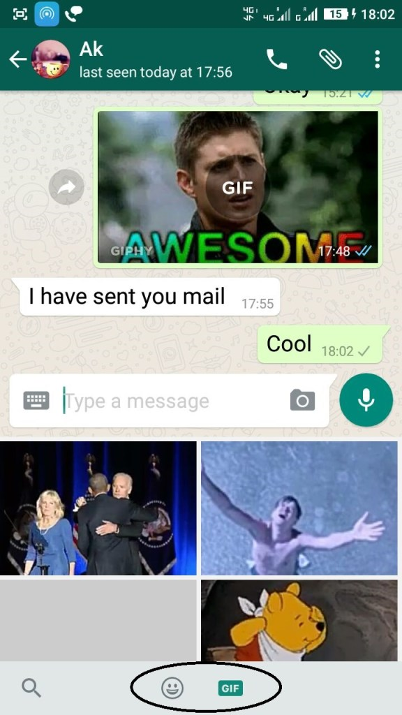 WhatsApp adds GIF library