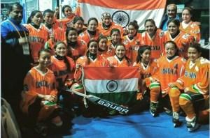 Indian Women Ice Hockey Team Won its First Ever International Match