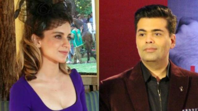 Karan Johar and Kangana Ranaut Cold War