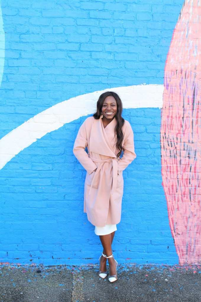 Blush Winter Coat perfect for layering. This waterfall coat is guaranteed to be a head turner this season, Shop this UNDER $30 find on goodtomicha.com