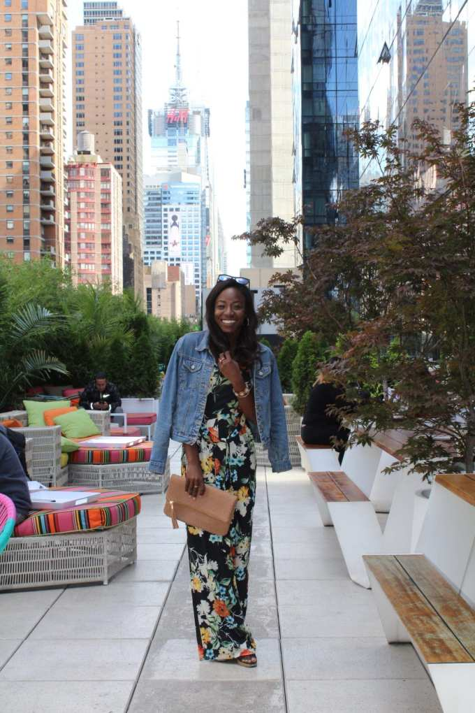 Fall floral jumpsuit and YOTEL hotel review on the blog! | GoodTomiCha.com
