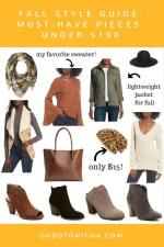Fall Style Guide Under $100