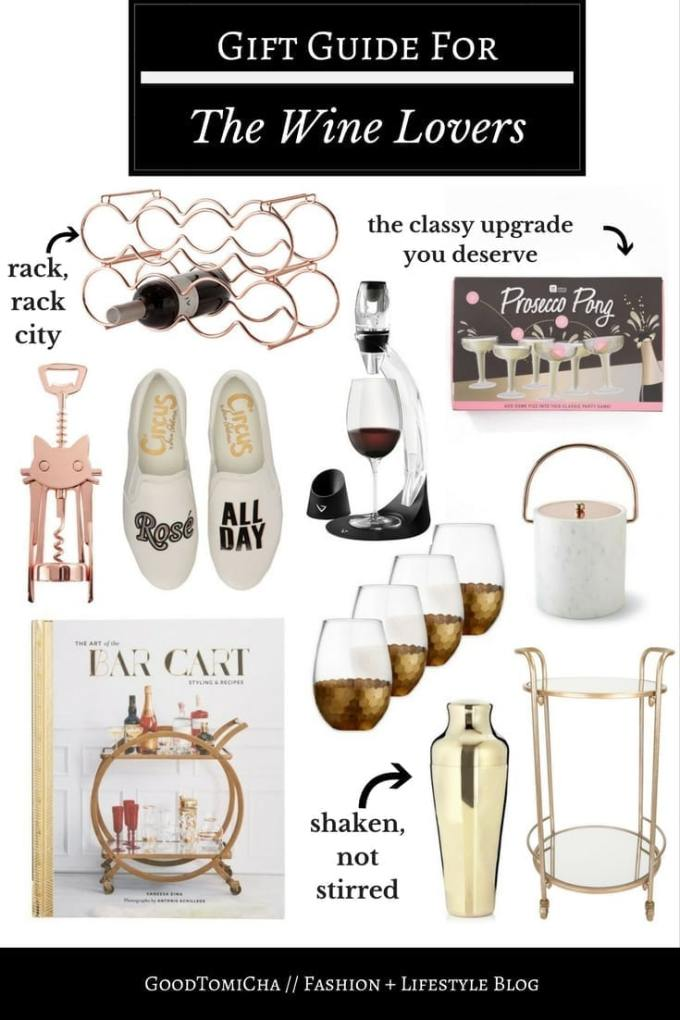 Best wine gift ideas for wine lovers on the blog! I'm sharing bar cart finds, wine racks, and everything in between.