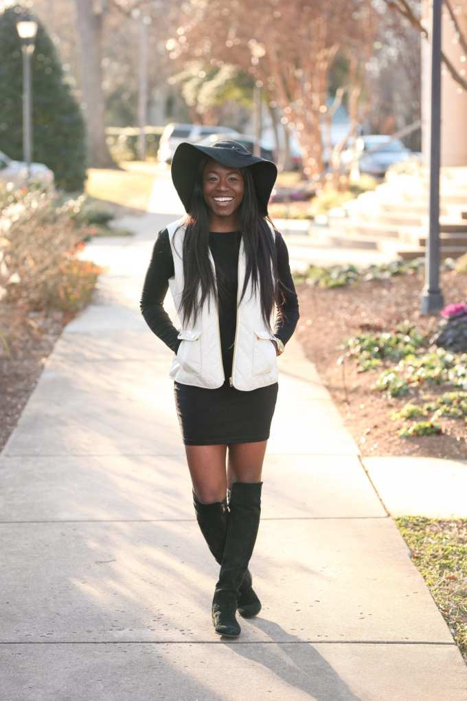 Southern fashion blogger, GoodTomiCha, shares her tips on finding the perfect little black dress. This lbd with sleeves comes in multiple colors and it's under $50. Head to GoodTomiCha.com or follow this image for more!