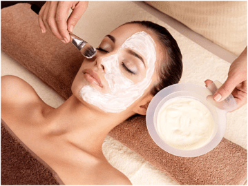 facial with homemade products