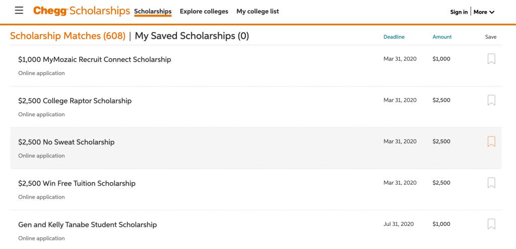 best-scholarship-websites-chegg