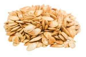 eating pumpkin seeds