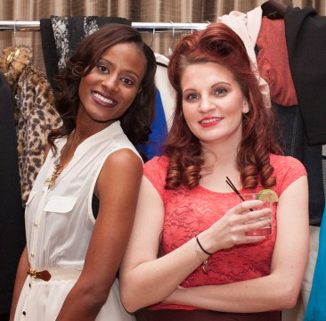 Zonia James and Brittany McCardle hanging out back stage before the start of the show. Photo by ErrolE