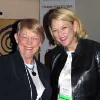Ann Clark and Brooke Penders smiling at the end of a successful evening.