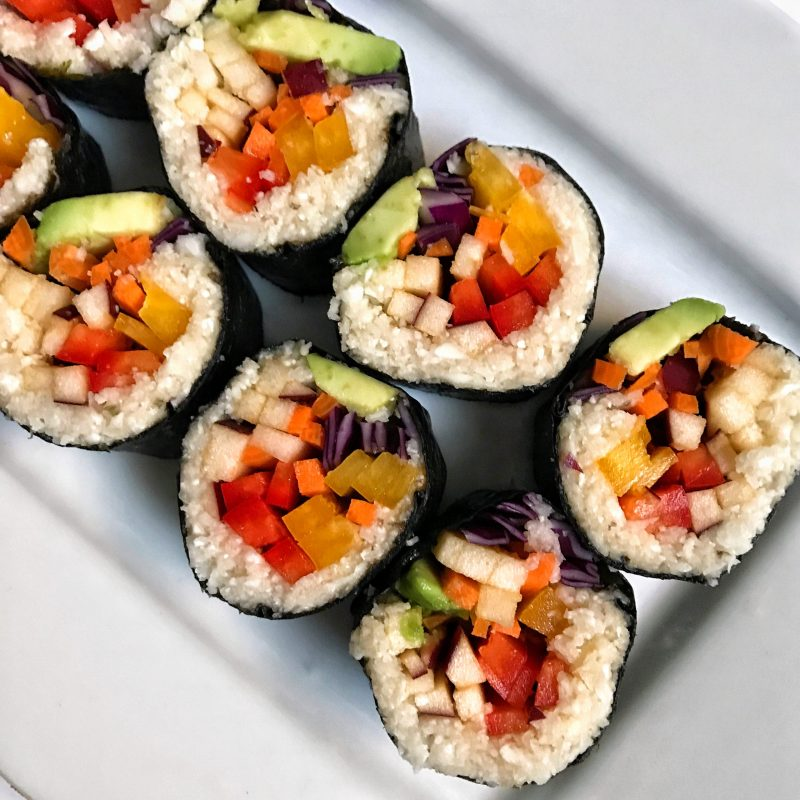 Rainbow Vegan Sushi